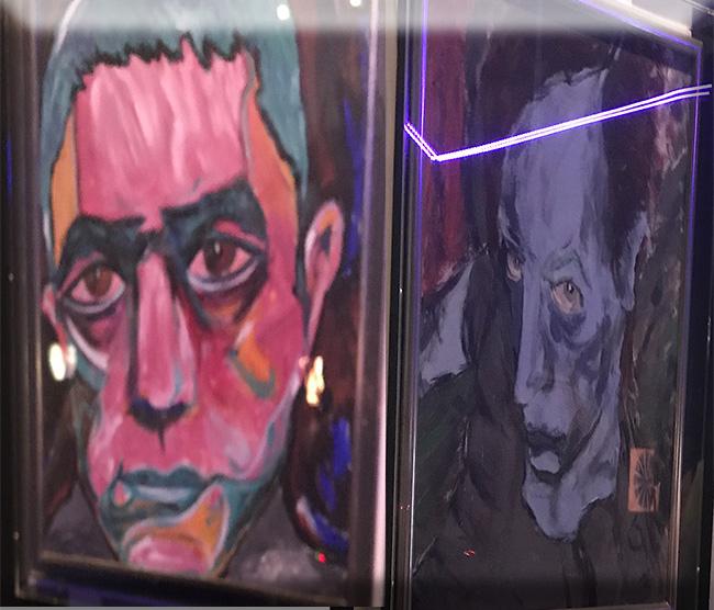 Portraits by David of Yukio Mishima & Iggy Pop